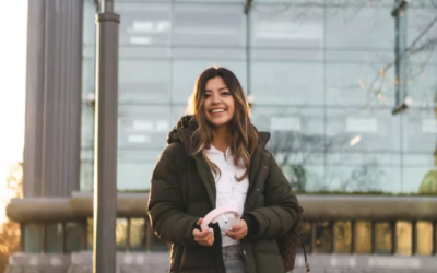 International student on campus